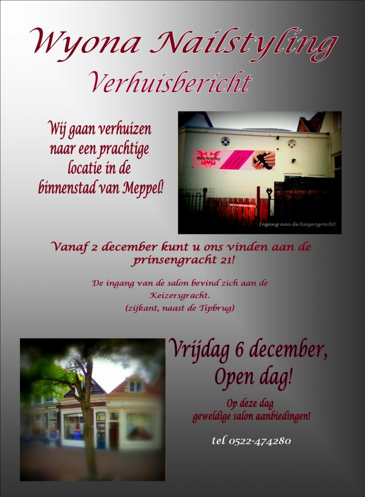 Verhuisbericht Wyona Nailstyling flyer